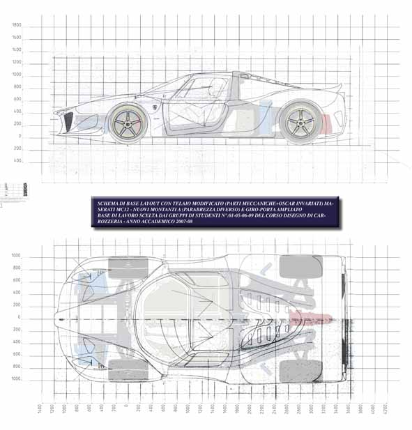 Esami 2011 disegno di carrozzeria sempre dedicata alla for Piani di costruzione della piattaforma gratuiti