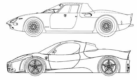 Esami 2012 disegno di carrozzeria un 39 altra rossa dagli - Profili auto per colorare ...