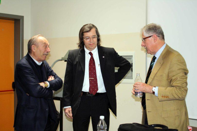 Il Prof. Giovanni Sebastiano Barozzi (a sinistra), con il Prof. Fabrizio Ferrari (al centro) e l'Ing. Enrico Fumia (a destra) PHOTO COPYRIGHT: LORENZO FERRARI