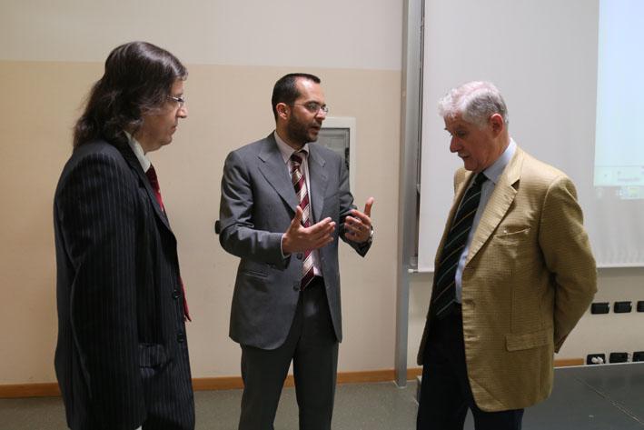Da sinistra  a destra: il Prof. Fabrizio Ferrari, il Prof. Francesco Leali, l'Ing. Enrico Fumia - Roberto Brancolini copyright