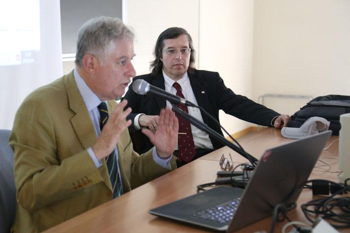 L'Ing. Fumia, in primo piano, con il Prof. Ferrari (a destra) - Roberto Brancolini copyright