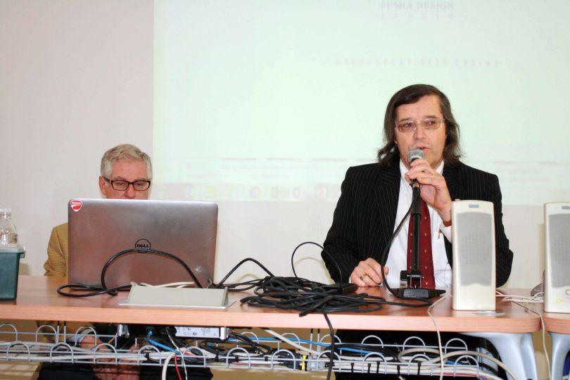 L'intervento iniziale del Prof. Fabrizio Ferrari (a destra) - PHOTO COPYRIGHT: LORENZO FERRARI