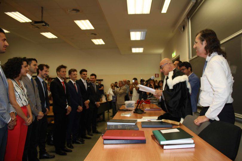 Proclamazione nuovi Laureati in Ingegneria del Veicolo Photo copyright: Lorenzo Ferrari