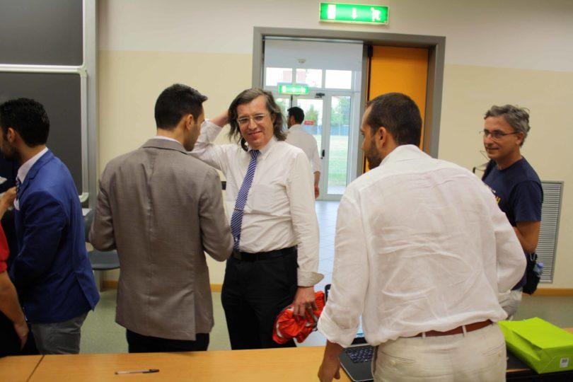 da sinistra: Ing. Gianfranco Spanò, Prof. Fabrizio Ferrari, Prof. Francesco Leali ed uno dei fotografi ufficiali: Roberto Brancolini (estrema destra) Photo copyright: Lorenzo Ferrari