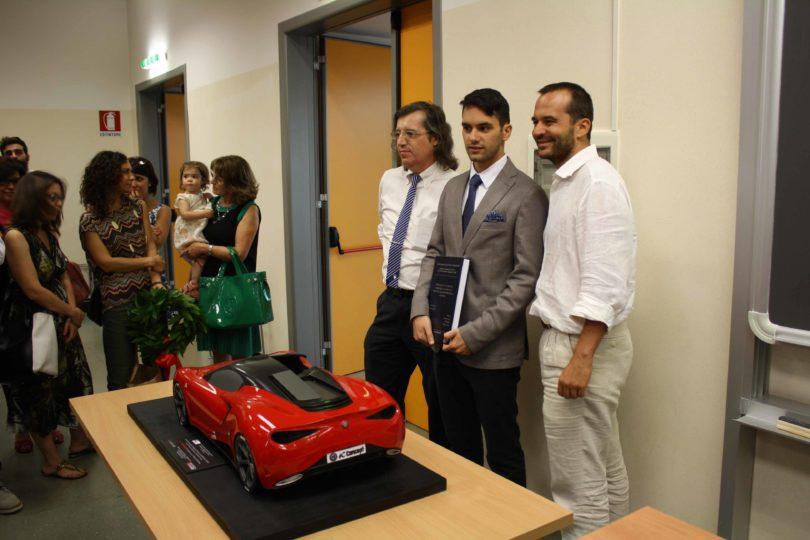 Da sinistra: Prof. Fabrizio Ferrari, Ing. Gianfranco Spanò e Prof. Francesco Leali Photo copyright: Lorenzo Ferrari