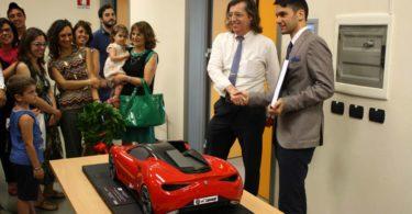 Prof. Fabrizio Ferrari (a sinistra) con il candidato; Ing. Gianfranco Spanò Photo copyright: Lorenzo Ferrari
