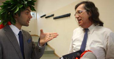 Ing. Gianfranco Spanò, discute con il suo tutor, Prof. Fabrizio Ferrari (a destra) Photo copyright: Lorenzo Ferrari