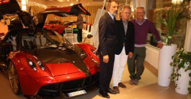 Ristorante Vinicio, Modena: 23 settembre 2016 Da Sinistra a destra: Vinicio Sichinolfi, Horacio Pagani e Lauro Malavolti Photo Copyright:  Lorenzo Ferrari