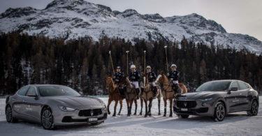 Maserati Polo Tour 2017 - Snow Polo St Moritz - Ghibli (sinistra) il Maserati Polo Team Levante (destra)
