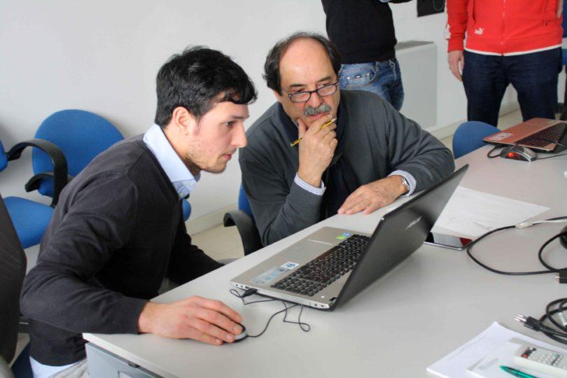 Vincenzo Megna, a sinistra, con l'Ing. Antonio Cesaretti  - Photo copyright Lorenzo Ferrari