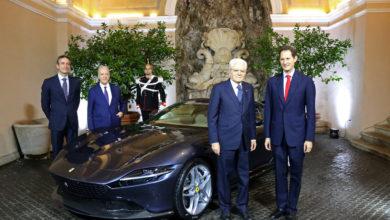 Photo of Presentata al Presidente della Repubblica Italiana la nuova Ferrari Roma.