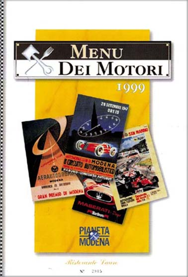 Photo of Menu dei Motori N°4 – 15 gennaio 1999 al Ristorante Lauro di Modena: come eravamo (ventennale)