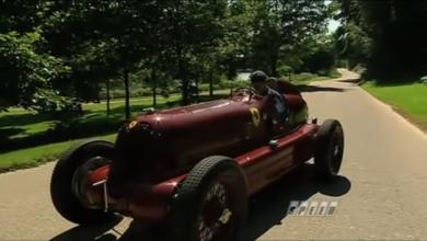 Photo of VIDEO – First Ferrari Race Car – 1935 Alfa Romeo Bimotore