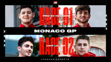 Photo of FDA Hublot Esports Team con i fratelli Leclerc al Virtual Monaco GP