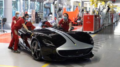 Photo of Primo giorno di riavvio della produzione Ferrari
