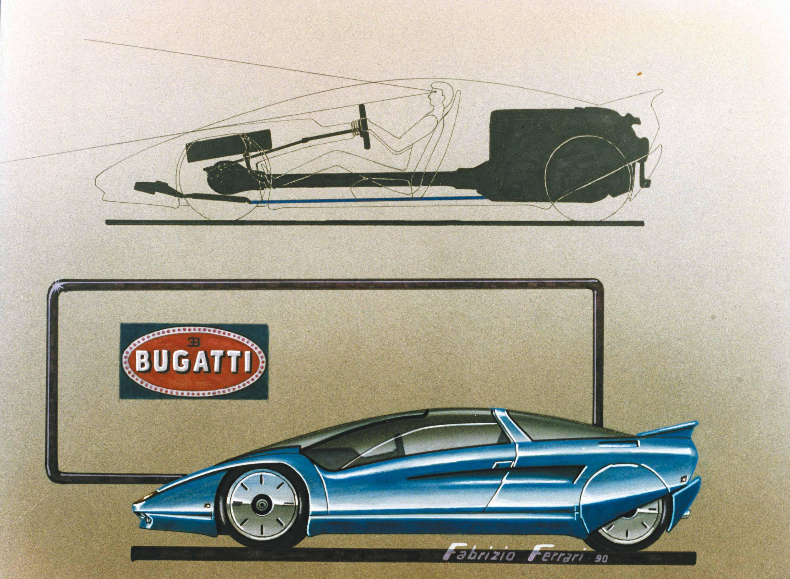 Photo of VIDEO GALLERY – Fabrizio Ferrari '90 design: Bugatti, MCA Centenaire e Cizeta