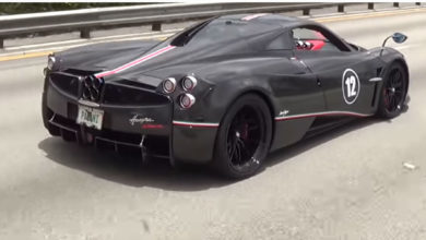 "Photo of VIDEO – Pagani Huayra BC Macchina Volante ""flying machine"" Blue BEAST delivery to Pagani Miami"