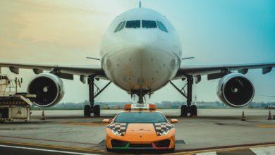 Photo of A new Lamborghini Huracán RWD Follow-Me at Bologna Airport