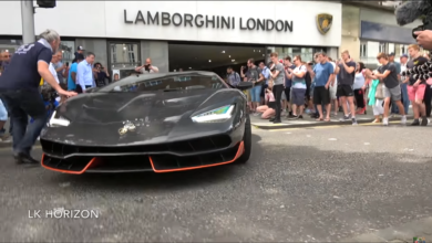 Photo of VIDEO – $2.5Million Lamborghini Centenario CAUSES CHAOS in London!