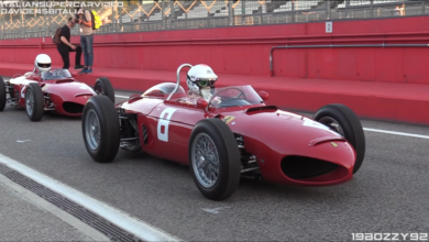 Photo of VIDEO – 1961 Ferrari 156 F1 'Sharknose': 65° & 120° 1.5L V6 Sound – Warm Up & Accelerations!