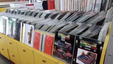 """Photo of Menu dei Motori: The latest copies of the Yearbook available at the """"Maranello Collection"""" in Maranello"""