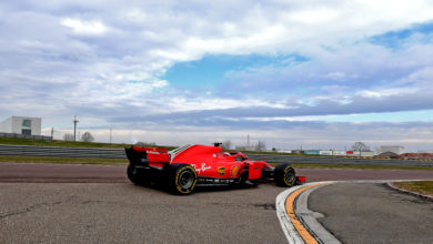 Photo of Debut with snowflakes at Fiorano for Giuliano and Marcus. Robert on track in the afternoon