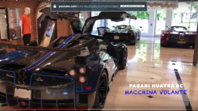 "Photo of VIDEO – Checking out the 1 of 20 Pagani Huayra BC ""Macchina Volante"""