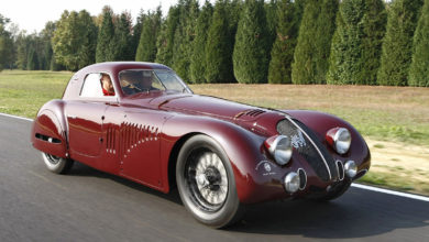 Photo of Alfa Romeo 8C 2900 B Le Mans and 33 Stradale, maids of honor at the REB Concours in Rome