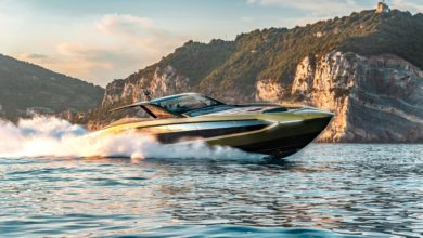 """Photo of The first """"Tecnomar for Lamborghini 63"""" motoryacht delivered"""