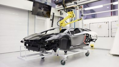 Photo of Automobili Lamborghini and composite materials. More than 35 years of history told in 12 chapters